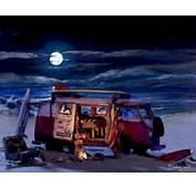 Volkswagen VW Microbus Bus Van  Auto Print Poster Picture Painting