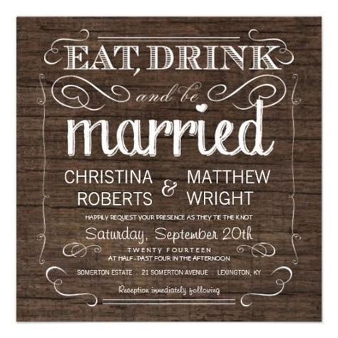 Barn Wood Wedding Invitations