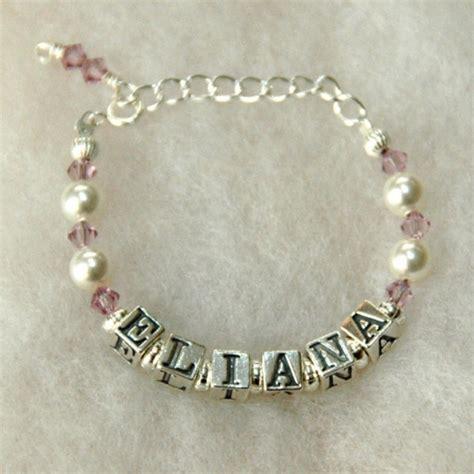 Handmade Bracelets With Names - baby birthstone name bracelet custom by jenuine articles