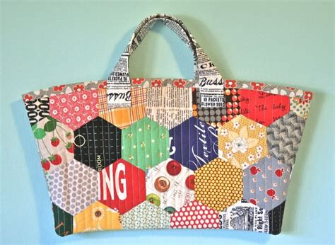 Free Patchwork Bag Patterns - free tutorial patchwork hexagon bag by tamiko