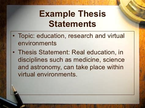 thesis statements about education introductions thesisstatements