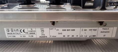 misure piano cottura 5 fuochi piano cottura ilve mod hp95 limena kece