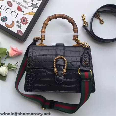 Gucci Gucci Dionysus Bamboo Handbags 8903 gucci dionysus bamboo croco pattern leather top handle medium bag 448075 2016 gucci