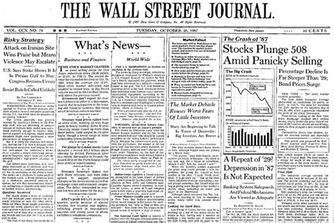 wall street journal real estate section the 1987 crash and a dose of perspective moneybeat wsj