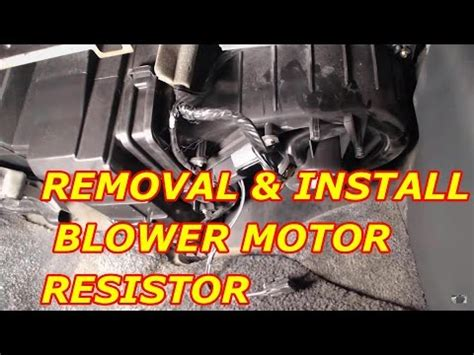 how to replace a blower motor on a 2000 chevy tahoe blower motor resistor replacement how to make do everything