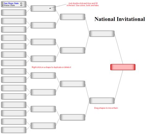 Tournament Chart Template by Bracket Chart