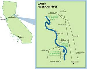 america river map lower american mile by mile map