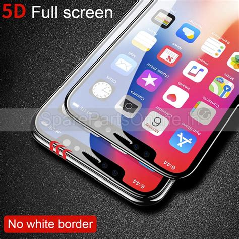 for iphone xs max xs plus tempered glass 5d screen guard protector 0 3mm 9h hardness