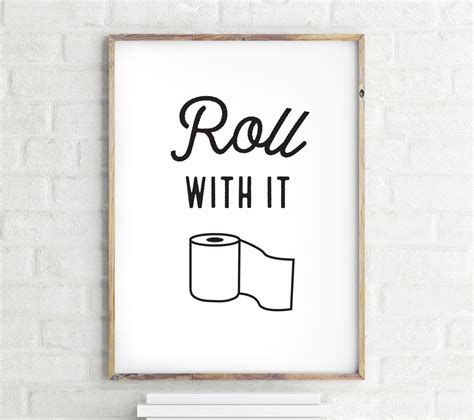 funny bathroom wall art roll with it funny bathroom wall art bathroom wall decor