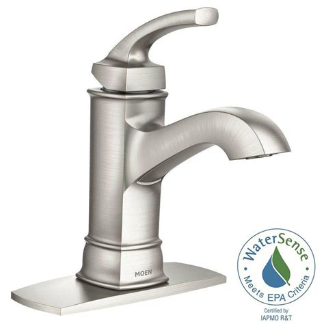 bathroom water faucets moen boardwalk bath faucet