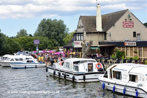 ferry boat norfolk paddle boat on the norfolk broads rosemary and pork belly