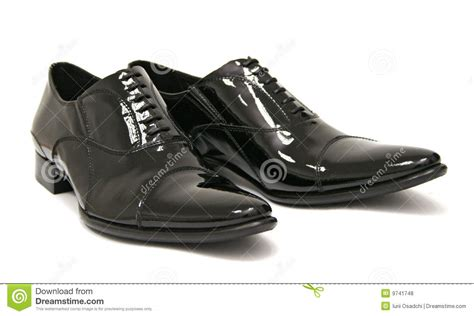 shiny black shoes royalty free stock photos image