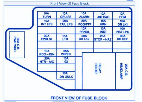 2005 Pontiac Vibe Fuse Box Diagram