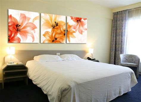 wall art headboard art sets flower wall canvas paintings wall decorations bed