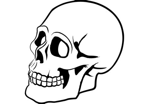 Flames Plain Lined free skull vector