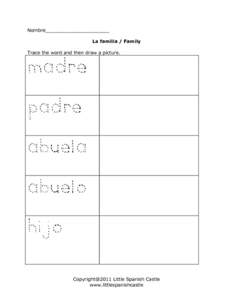 La Familia Worksheets by All Worksheets 187 La Familia Worksheets Printable