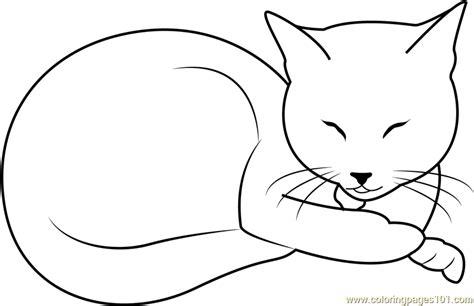 sleeping beauty cat  kahinaspirit coloring page