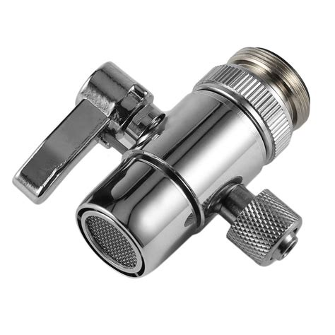 pv10 chrome brass polished diverter for kitchen sink