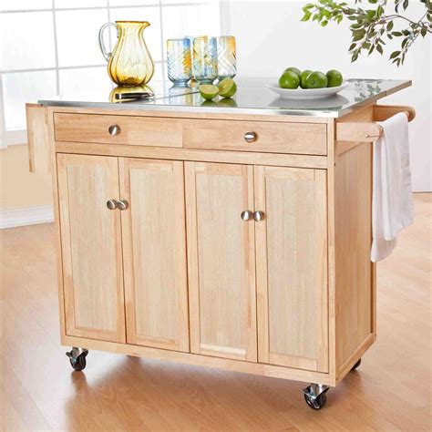 stainless steel kitchen island on wheels stainless steel kitchen carts on wheels temasistemi net