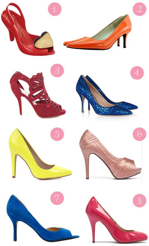 Coloured Wedding Shoes by Gorgeous Bridal Shoes Polka Dot