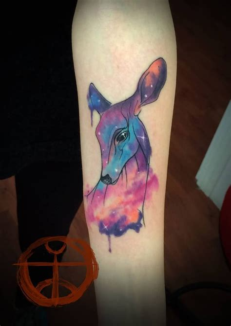 watercolor tattoo tumblr watercolour nebula galaxy tattoos