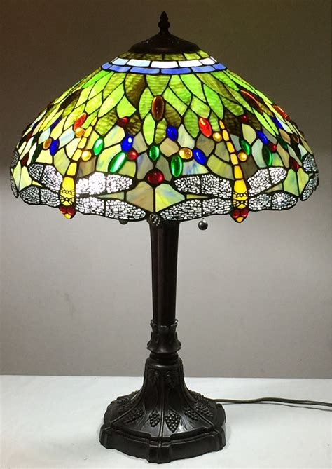 Stained Glass L Shades by Style Stained Glass L 034 Dragonfly 034 W 18 034 Shade Ebay