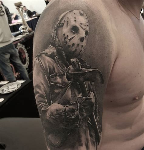 jason voorhees tattoos jason with maks axe best design ideas