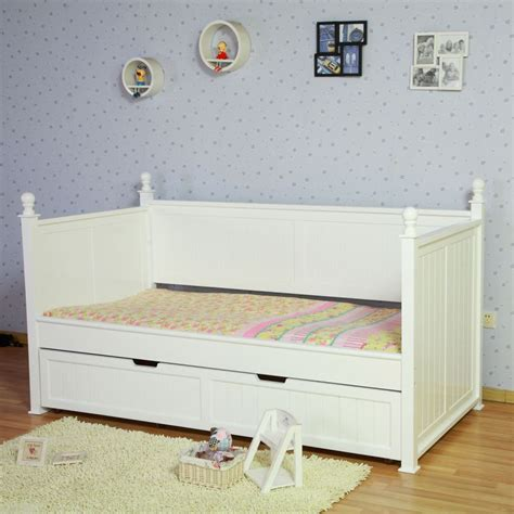 princess bed frame kids princess single bed frame w trundle in white buy