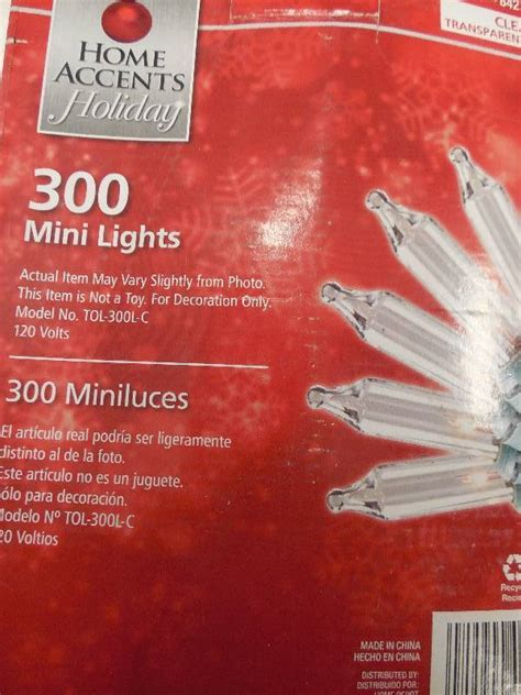 300 mini lights set christmas holiday decorations