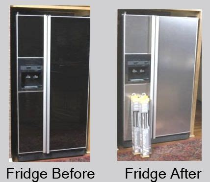 kitchen appliance paint amazing diy stainless steel makeover for a fridge you re