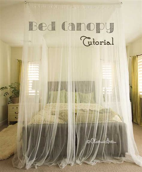 magical diy bed canopy ideas    sleep