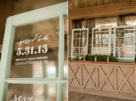 Wedding Window by And Mint Handmade Pippin Hill Farm Wedding