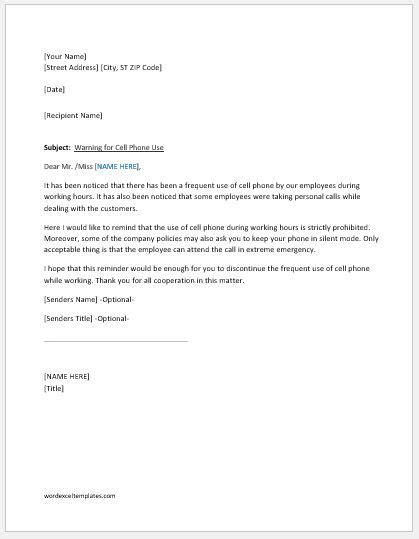 Template With Circular Staff Photos Employee Warning Template Employee Warning Notice Office