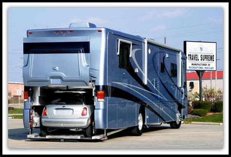 motor home with garage for cars pin by aaron smith on rv s pinterest