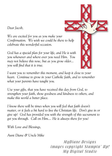 Confirmation Letter To My Nephew Mydiane Designs Confirmation Letter