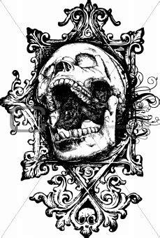Evil Dead White Shirt Quality Distro image 672508 vector grunge skull 7 illustration from