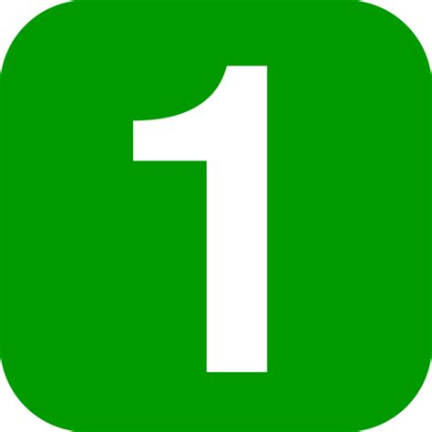 Green Mba Number 1 by File Number 1 In Green Rounded Square Svg 维基教科书 自由的教学读本