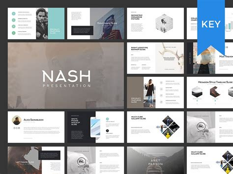 Slides Templates Nash Keynote Presentation Template Presentation Templates Creative Market
