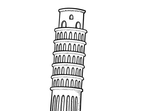 Pisa Tower Coloring Pages Leaning Tower Of Pisa Coloring Page