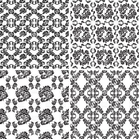 black and white retro wallpaper set of black and white retro wallpapers royalty free