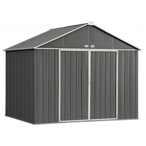arrow ezee  ft   ft galvanized steel storage shed
