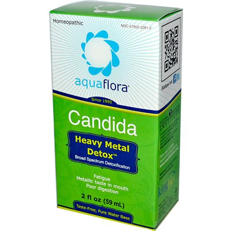 Candida Cleanse On Metal Detox by Aqua Flora Candida Heavy Metal Detox 2 Fl Oz 59 Ml