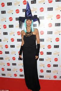 Padma laksmhi dresses as a witch at hard rock cafe s 11th annual dream