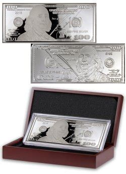 1 oz silver bar display 2015 minting 100 federal reserve note 1 oz