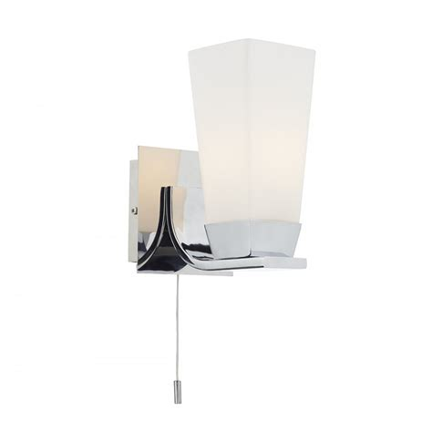 Dar Bathroom Lighting Dar Lighting Director Single Light Switched Bathroom Wall Fititng In Polished Chrome Finish