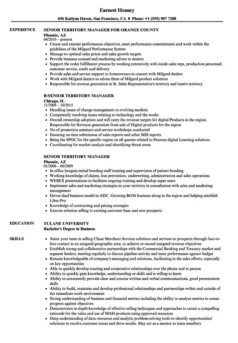 territory manager resume resume ideas