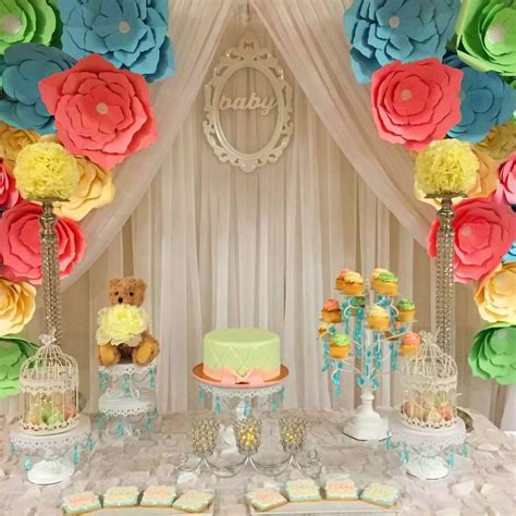Baby Shower Backdrop by Baby Shower Ideas Backdrops Flower And Babies