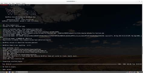 tutorial wpscan kali linux wpscan инструменты kali linux