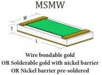 microwave thin chip resistors microwave chip resistors thin up to 40ghz frequency range msi
