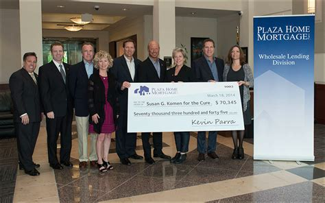 press release plaza home mortgage raises 70 000 for